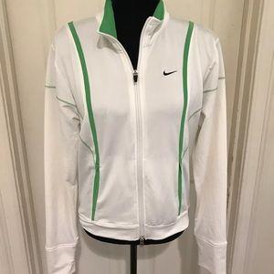 White Nike warm up jacket. Size medium